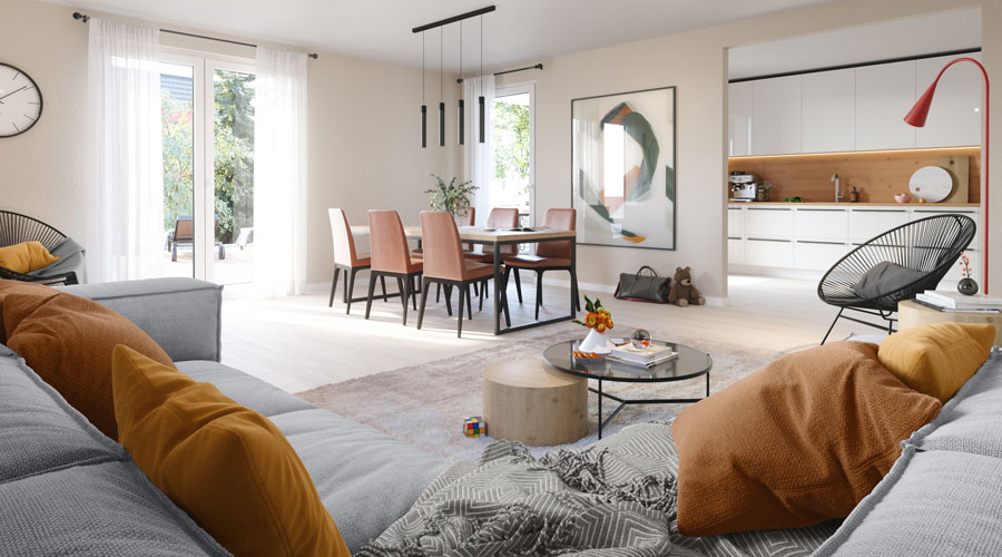 Bungalow 108 Wohnzimmer