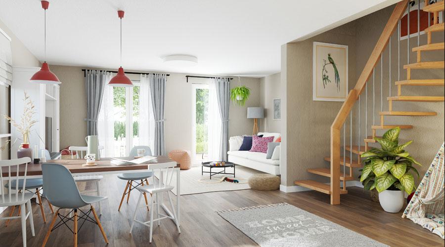 Doppelhaus Mainz 128 Wohnzimmer